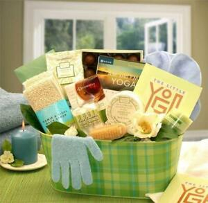 A Little Yoga & Green Tea Essentials Spa Gift Basket - Gift Baskets by Starr for
