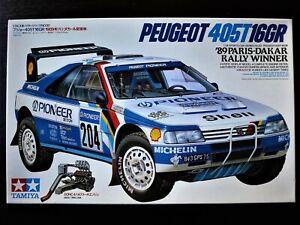 TAMIYA 1/24 Peugeot 405T 16GR  '89 Paris-Dakar Rally Winner In fine condition !