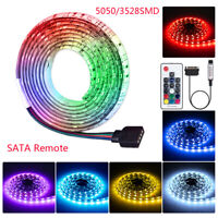 SATA RGB Waterproof LED Strip Light 5050 3528SMD 17key Control for Computer Case
