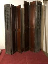 Vintage Architectural Salvage 3 Panel Wood Shutters Folding wooden set wooden