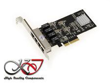 Carte PCIE 10/100/1000 4 PORTS LAN GIGABIT ETHERNET - WAKE ON LAN - REALTEK
