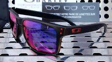 New Oakley HOLBROOK Sunglasses 9102-36 Matte Black w /+ Red Iridium Lenses