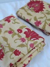 Vtg PAIR Pottery Barn Vanessa Yellow Palampore Floral Standard Size Pillow Shams