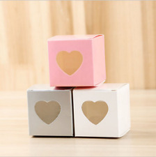 New Handmade Kraft Paper Heart Window Diy Jewelry Candy Box Gift Packaging Boxes