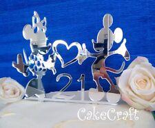 Acrilico Mickey Minnie Mouse Compleanno, Anniversario Cake Topper Decorazioni