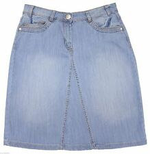 Size 8 To 20 Light Blue Wash Stretch Denim Skirt RRP £22 Ex Highstreet *LICK*