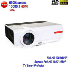 2018 New High Brightness 6500Lumens LED Projector Full HD TV Smart Projecor HDMI