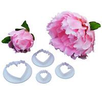 4Pcs/Set Peony Flower Petal Shape Fondant Cake Icing Cutter Sugar Paste Tool