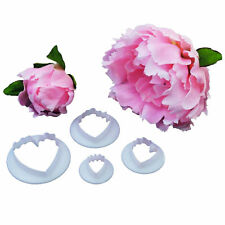 Peony Flower Petal Cookie Cutter Fondant Cake Icing Cutting Tool Sugar Paste