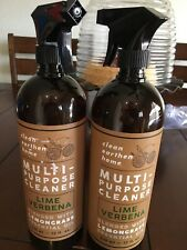 2 NEW Home & Body Co Lux Clean LIME VERBENA Multi-Purpose Cleaner Spray 32 oz