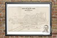 Old Map of St. Paul, MN from 1860 - Vintage Minnesota Art, Historic Decor
