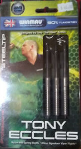TONY ECCLES (THE VIPER) STEEL TIP DARTS 24 GRAM 90%TUNGSTEN WINMAU