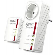 2 x AVM Powerline FRITZ! WLAN Set Steckdose Internet Netzwerk Net PC Adapter