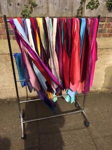 Job Lot 65 Satin Cravats Closed Suit Hire Business REDUCED SALE
