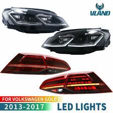 VLAND pour VW Golf 7 MK7 VII 2013-2017 LED Dynamique Feux Arrière & Feux Avant
