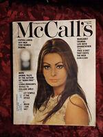 MCCALL'S January 1967 SOPHIA LOREN Joy Adamson Aubrey Menen Betsy Mccall