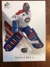 2017-18 UD Hockey SP Authentic Base #100 Patrick Roy