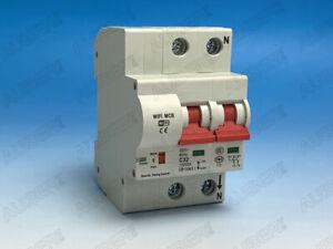 DIN Rail Mounted Smart Miniature Circuit Breaker w/ WIFI, 240V 2 Pole 63A
