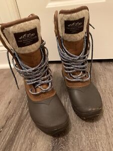 The North Face Tan Brown Winter Insulated Boots Women Size 6