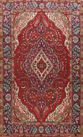 Vintage Traditional Floral Hand-Knotted Area Rug Dining Room Wool Carpet 7x10