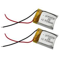 2pcs 3.7V 240mAh 20C Lipo Battery RC Parts for Syma S107 S026 V319 Helicopter