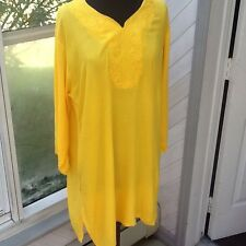 Ladies Embroidered Yellow Tunic Size XL / XXL