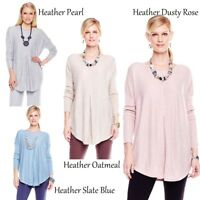 MarlaWynne Pleated Front Long Sleeve Top 296349-J -NI- (XS-M)
