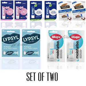 Blistex Nivea Palmers Lasting Moisturising Lip Balm Dry Chapped Lip Care Pack 2