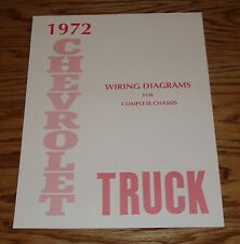 1972 Chevrolet Truck Wiring Diagram Manual for Complete Chassis 72 Chevy