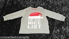 Christmas Carters On the Nice List Infant Long Sleeve T-Shirt (SIZE 9 Months)