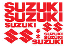 SUZUKI REPLACEMENT DECALS for BIKE, QUAD, OUTBOARD. 18 COLOURS. BEST VINYL.