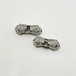 Early 1900's Diamond Platinum Decorative Parts (9788)