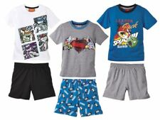 d4808b7d74 (R39) Kinder Jungen Shorty Schlafanzug Hausanzug Pyjama Superman Turtles NEU