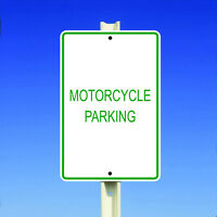 Motorcycle Parking Aluminum Metal 8x12 Sign