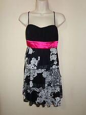 *NEW* Beautiful Juniors dress size L (black & pink) 0716*9