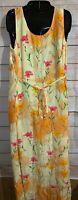 Plaza South Yellow Floral Dress Size 8 Sleeveless