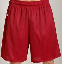 """Men's XXL Classic Russell Athletic True Red 7"""" Sports Gym Mesh Shorts 36-42"""" NWT"""