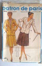 4)Patron de Paris; Ensemble Blazer Taille 44-46-48