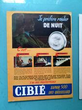 publicités ancienne  ACCESSOIRES VOITURES LES PROJECTEURS CIBIE (U2)