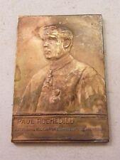 Medaille Bronze Paul Rochedieu Pasteur Evangelische Brüssel 1892 1932 Belgien