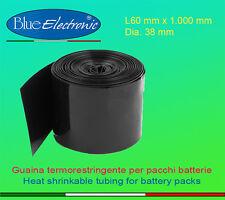 Guaina termorestringente retraibile piana mm L60 Diametro 38 per pacco batteria
