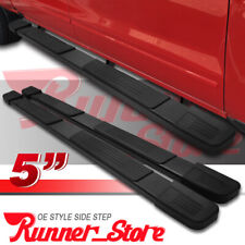 "For 02-08 Dodge Ram 1500 Quad Cab 5"" Black Side Step Running Board Nerf Bar S"