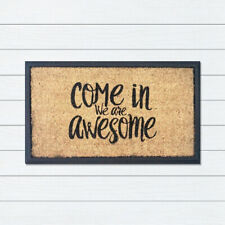Rubber and Coir We Are Awesome 40x70cm Doormat