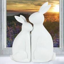 Porcelana Pareja de conejos Figura Decorativa animal PAREJITA Decoración ventana