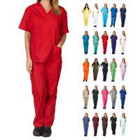 Unisex Scrub Set Men/Women Uniform Medical Hospital Nursing Clinic Top & Pants