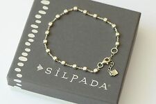 "Silpada NEW ""Venice"" Sterling Silver Ball Bead Italian Made Bracelet B3006 NEW"