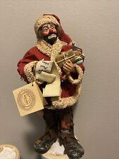New listing Rare Emmett Kelly Jr Flambro Real Rags Fabric Mache Santa Figurine, With Tags.