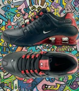 NIKE SHOX NZ LEATHER Black/Gym Red MEN SIZES NEW With BOX !!!