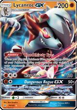 Lycanroc GX 74/145 SM Guardians Rising Ultra Rare Pokemon Card MINT TCG