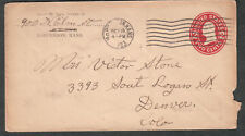 1923 cover McPherson KS Kansas to Mrs Victor Stone Denver CO